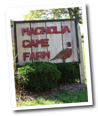 Magnolia Game Farm Sign